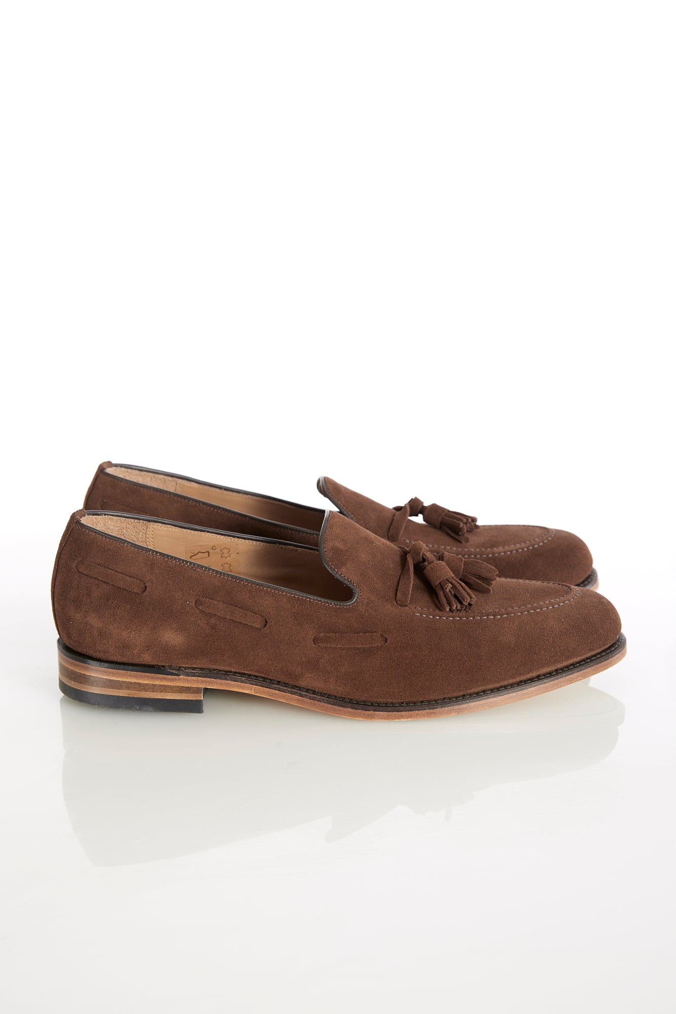 Loake 'Lincoln' Brown Suede Tassel Loafer Side