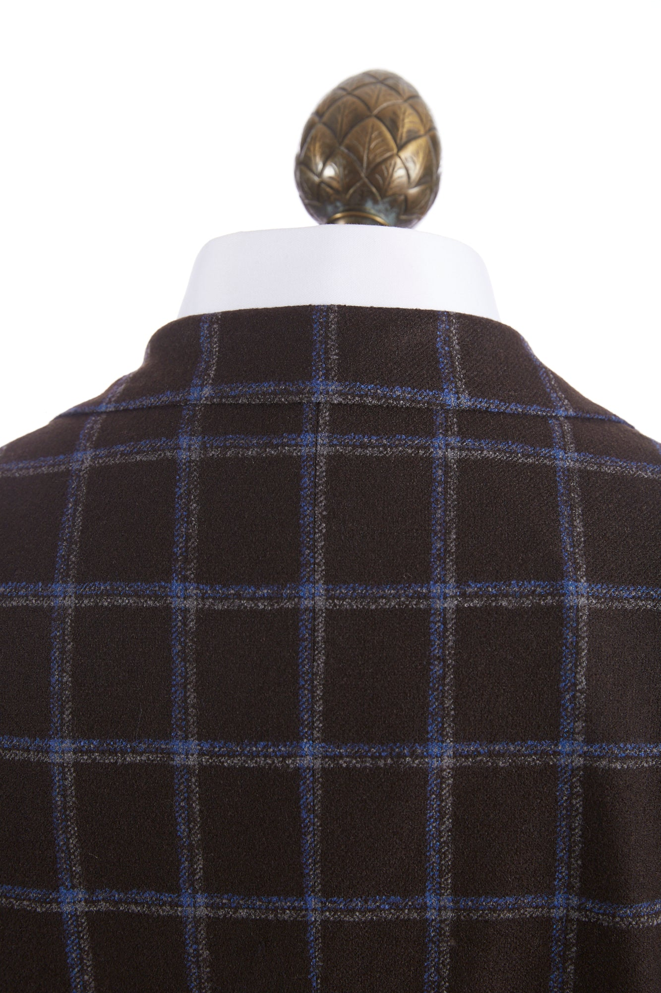 Luigi Bianchi Mantova Brown Windowpane Wool Sport Jacket - Sport Jackets - L.B.M. 1911 - LALONDE's