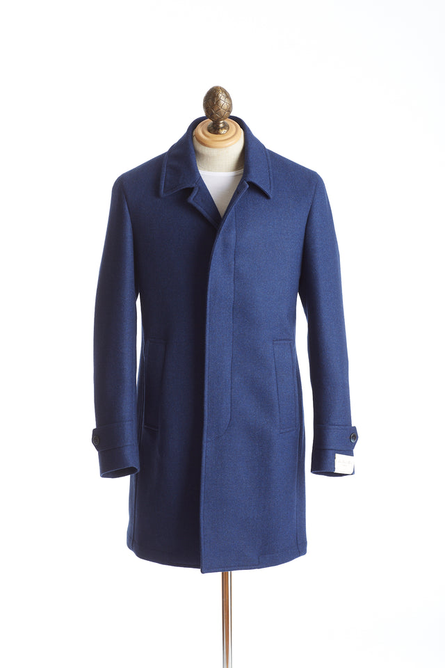 Luigi Bianchi Mantova Royal Blue Loro Piana Topcoat