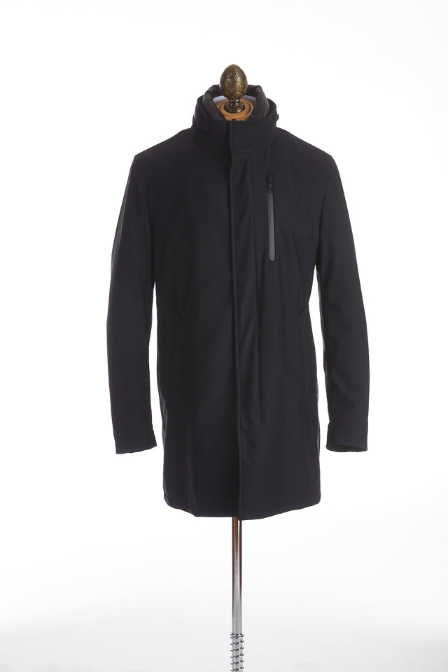 Montecore Navy Technical Car Coat
