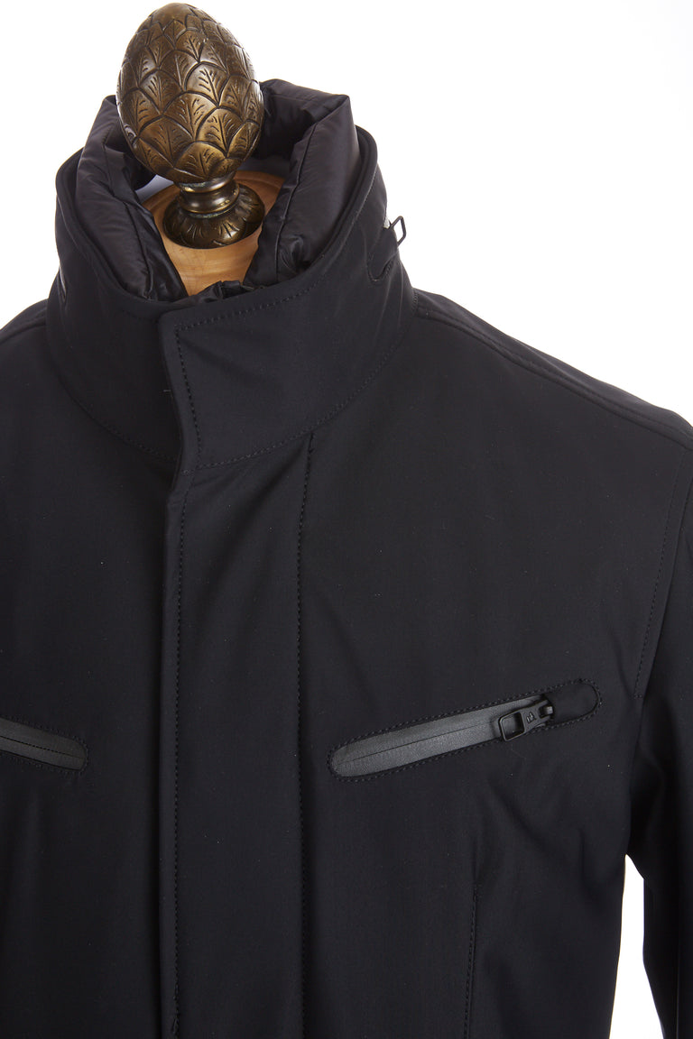 Montecore Navy Technical Short Jacket Front