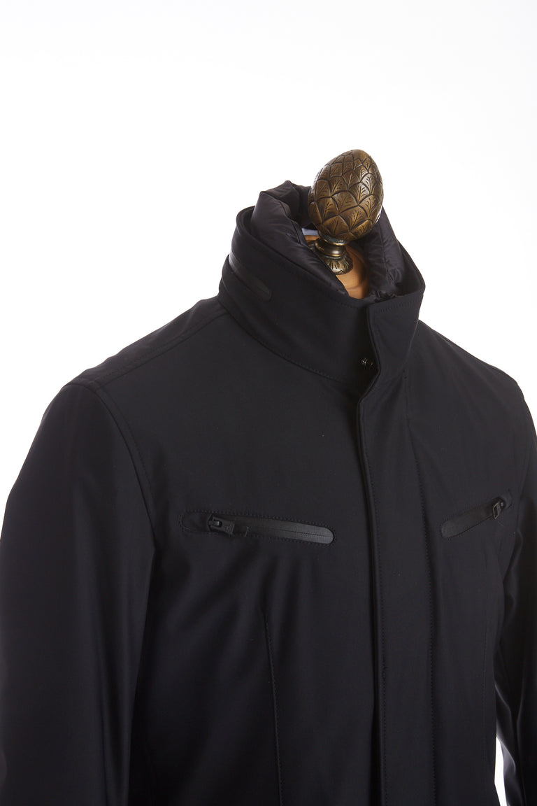 Montecore Navy Technical Short Jacket Side