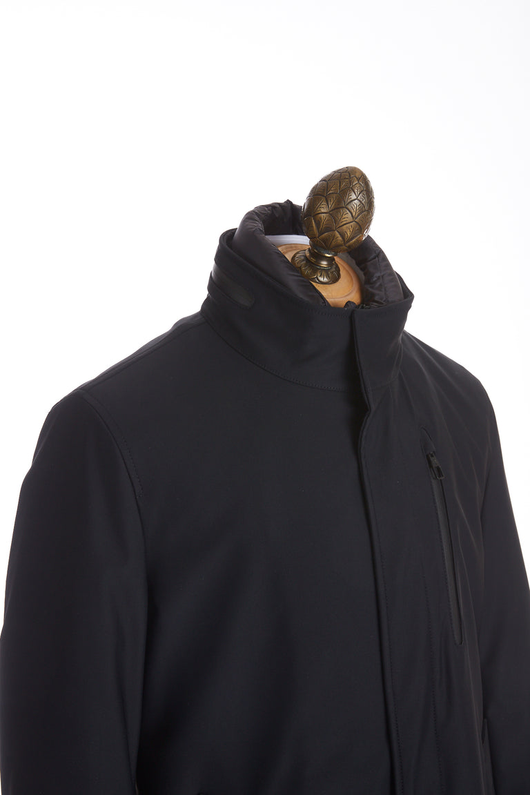 Montecore Navy Technical Topcoat Side