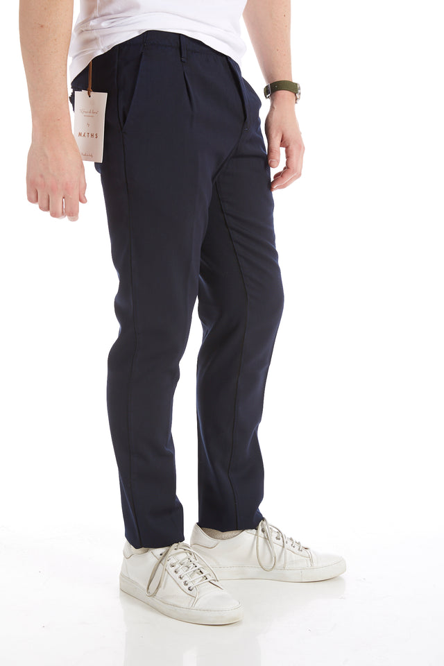 Myths Navy Pleated Wool Dress Pants - Pants - Myths - LALONDE's