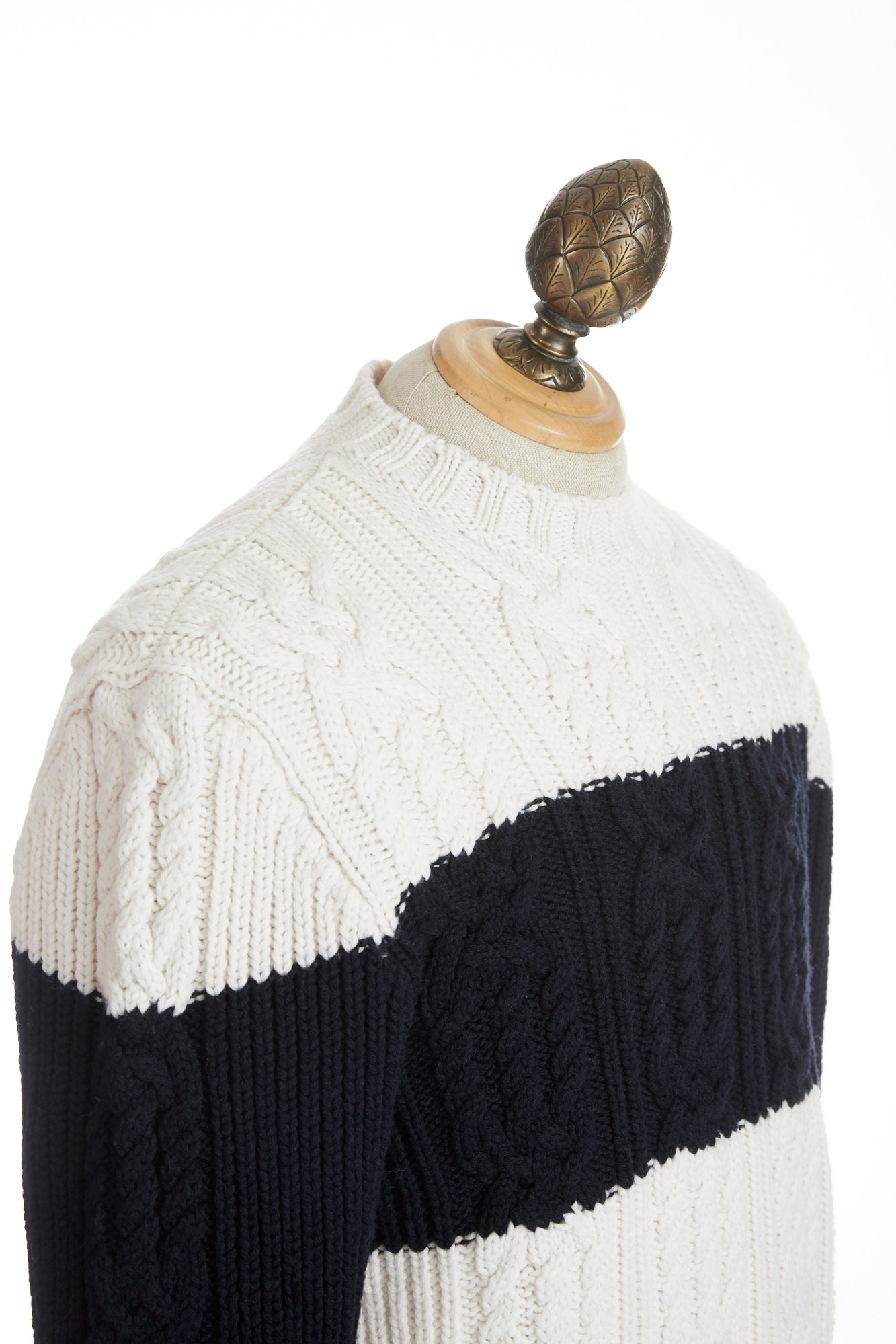 Paul & Shark Two Tone Fisherman Cable Knit