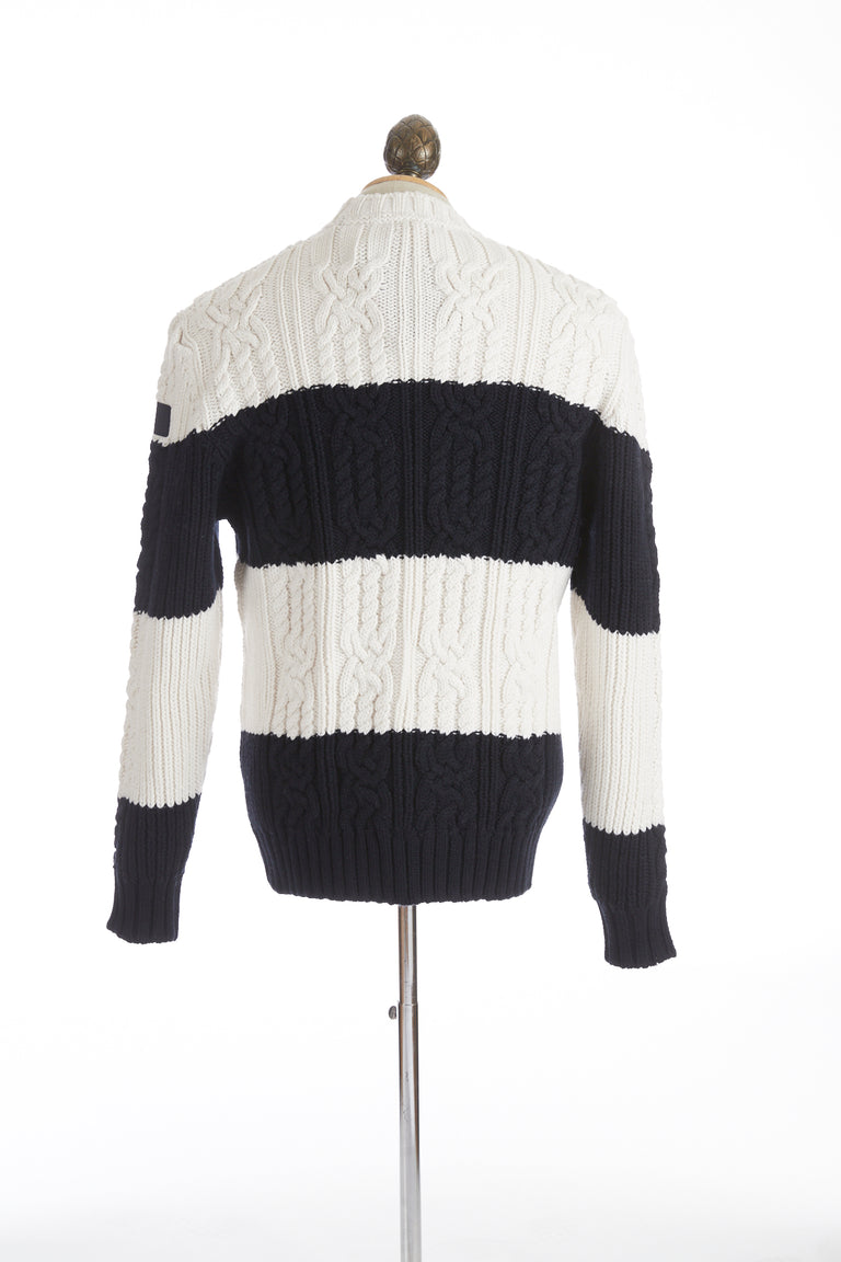 Paul & Shark Two Tone Fisherman Chunky Knit Sweater