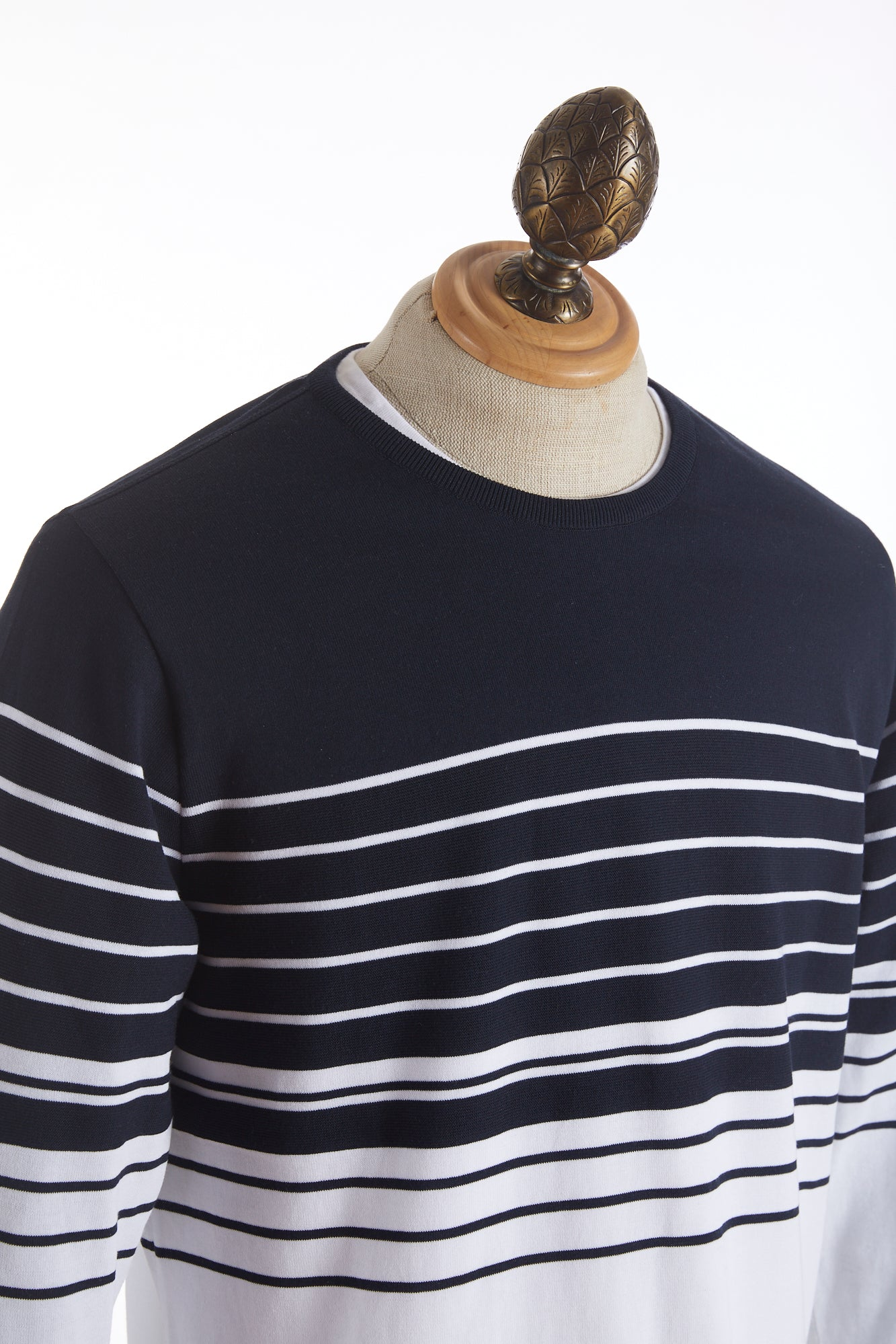 Paul and Shark Striped Ice Cool Crewneck Sweater