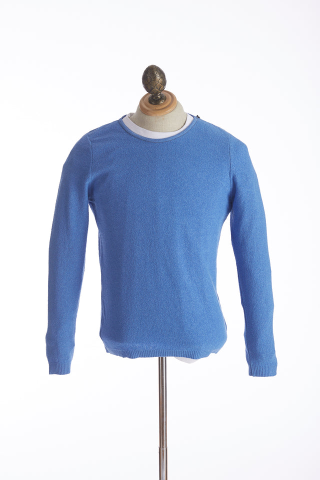 Phil Petter Baby Blue Terry Crewneck Sweater