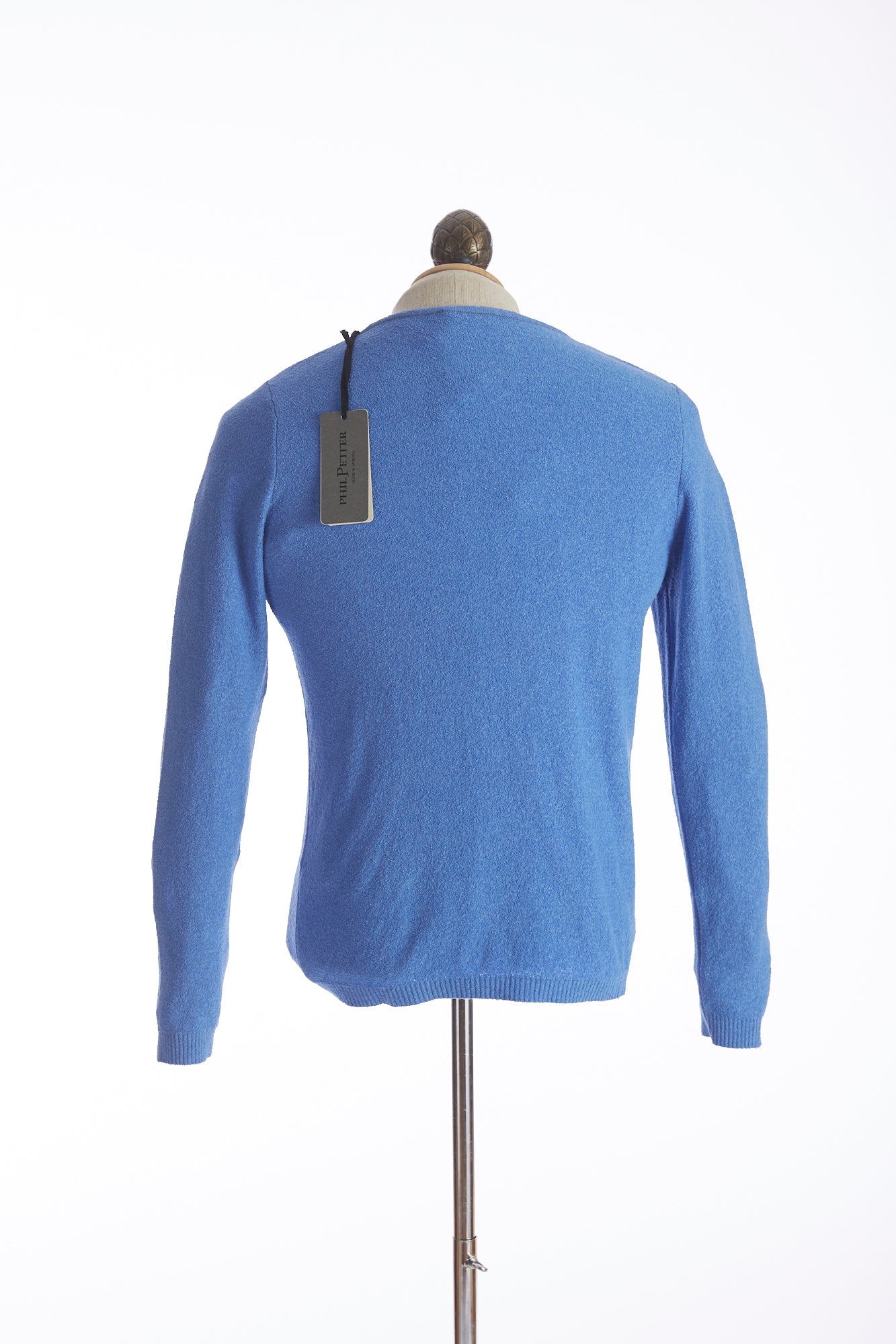 Phil Petter Baby Blue Terry Crewneck Sweater Back