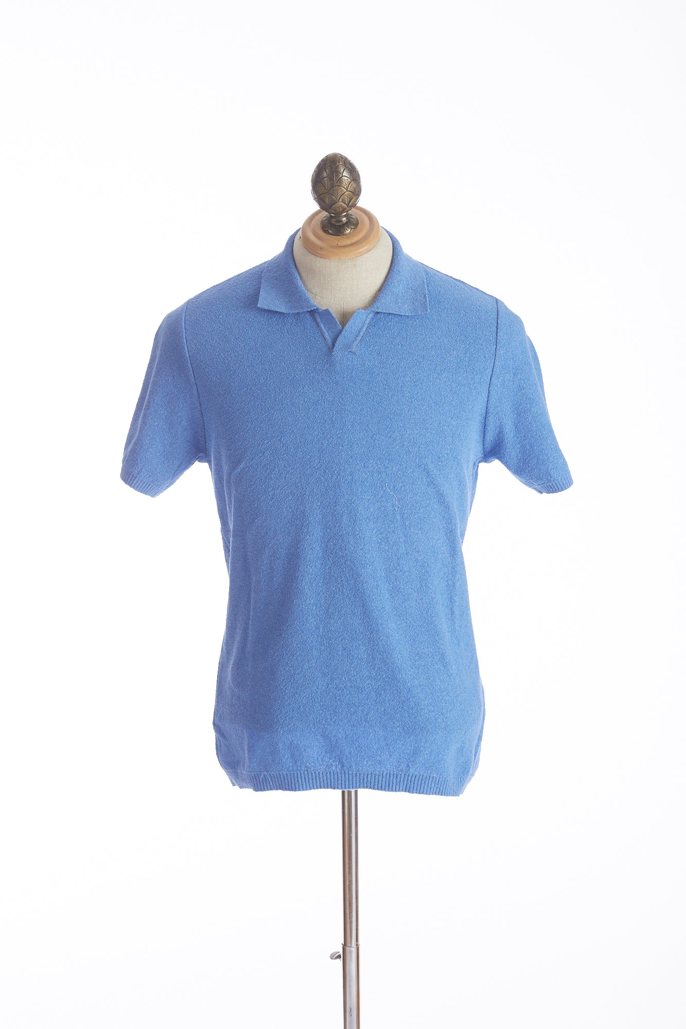 Phil Petter Baby Blue Terry Polo Shirt