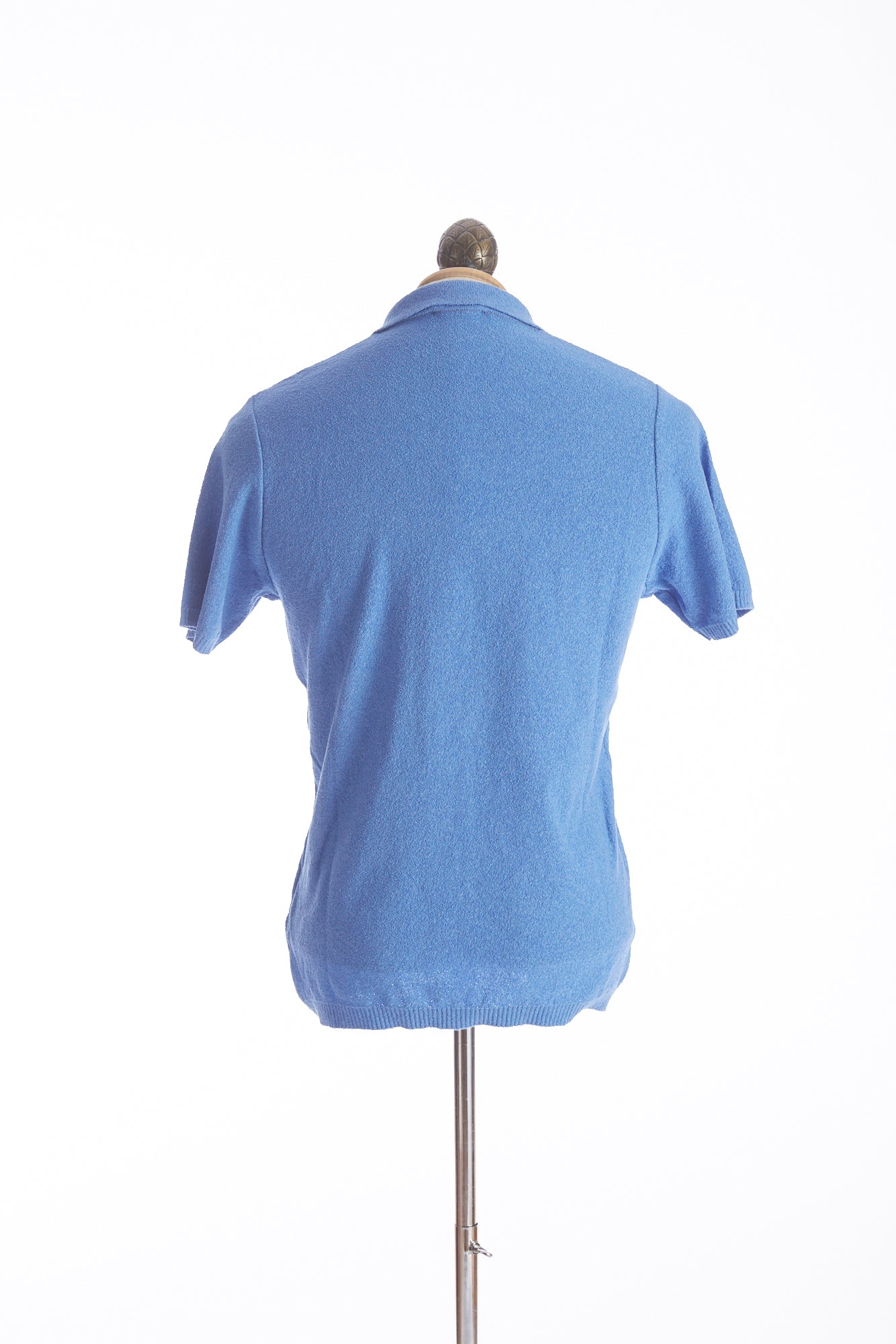 Phil Petter Baby Blue Terry Polo Shirt Back