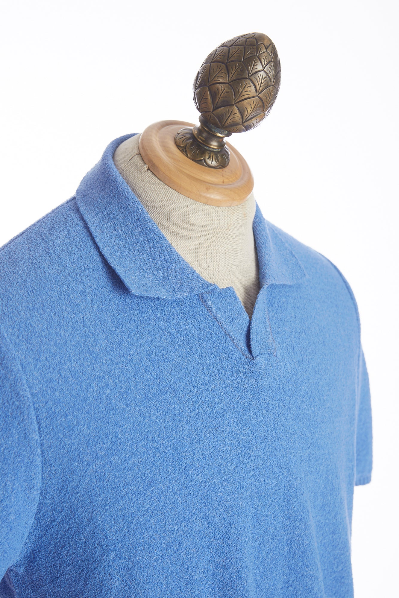 Phil Petter Baby Blue Terry Polo Shirt Side