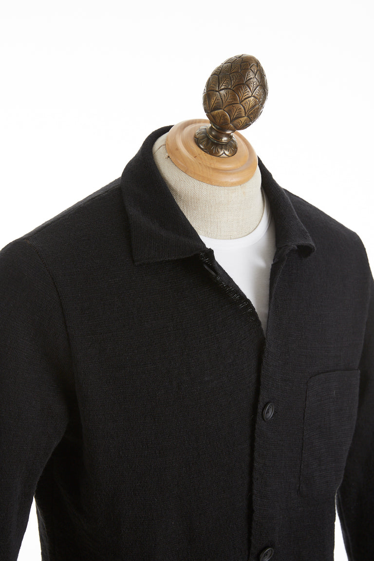 Phil Petter Black Linen Austrian Sweater Cardigan