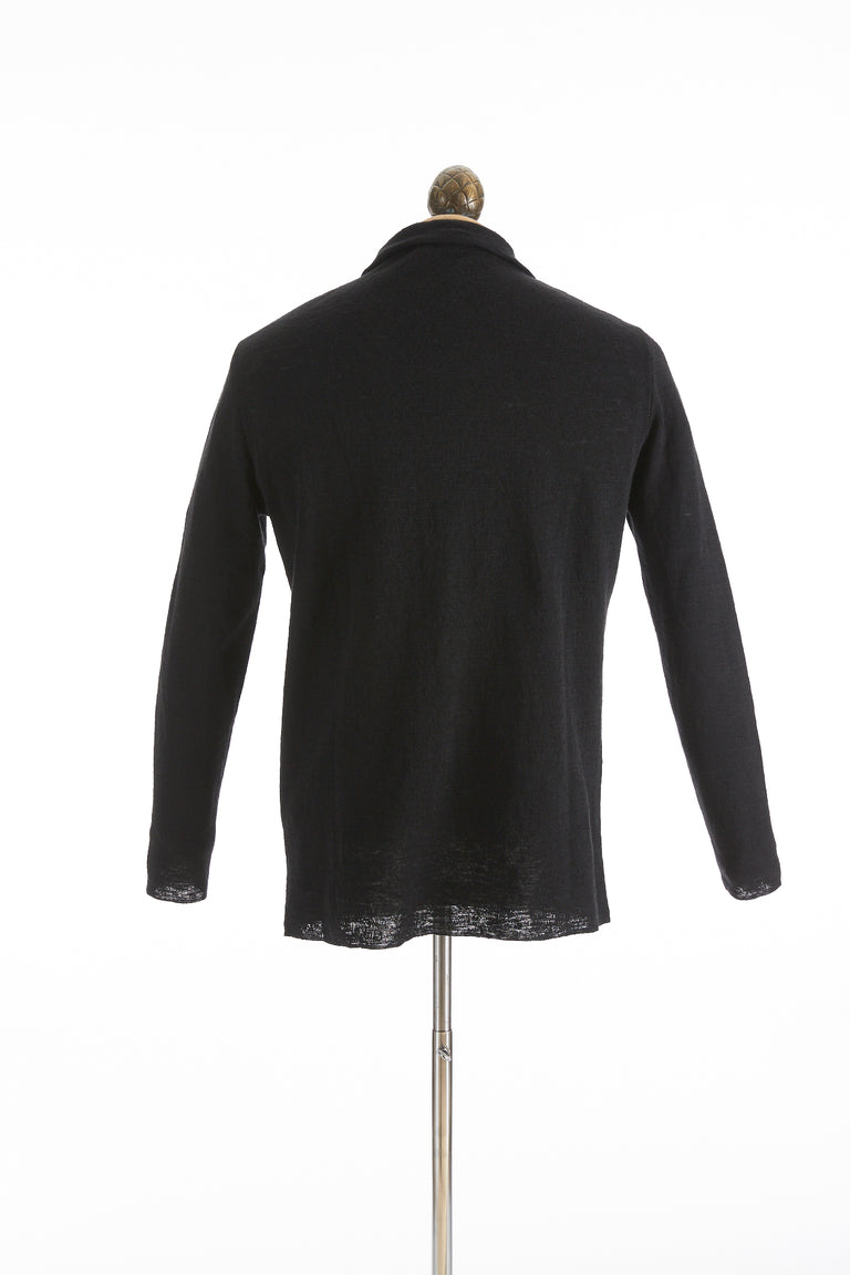 Phil Petter Black Linen Cardigan