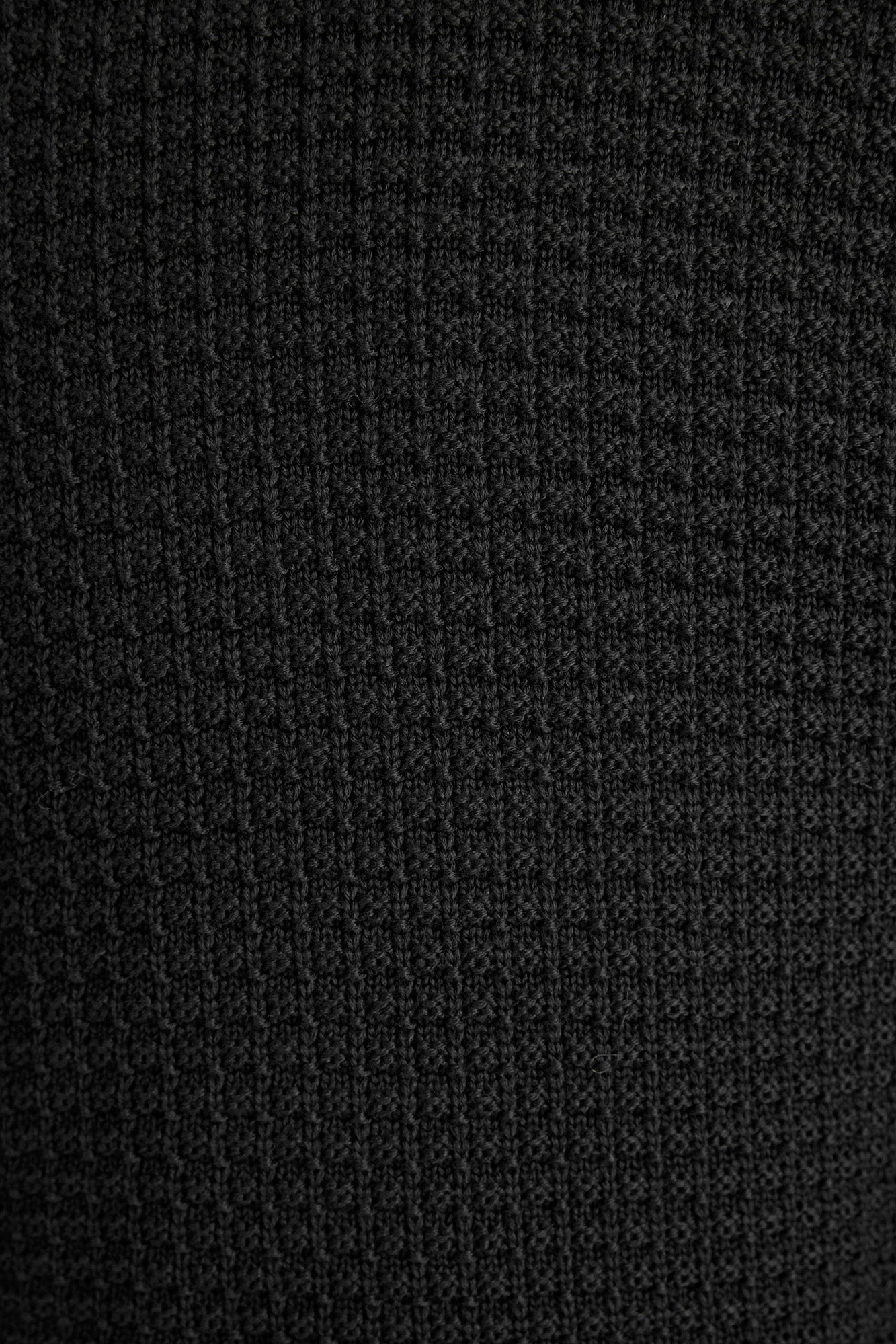 Phil Petter Black Waffle Wool