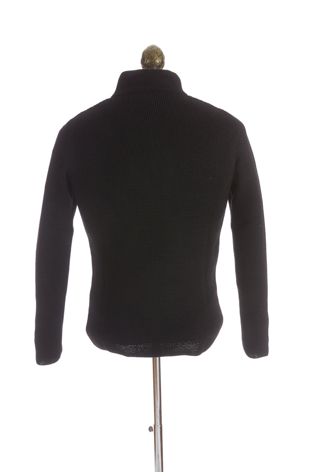 Phil Petter Black Wool Quarter Zip Sweater