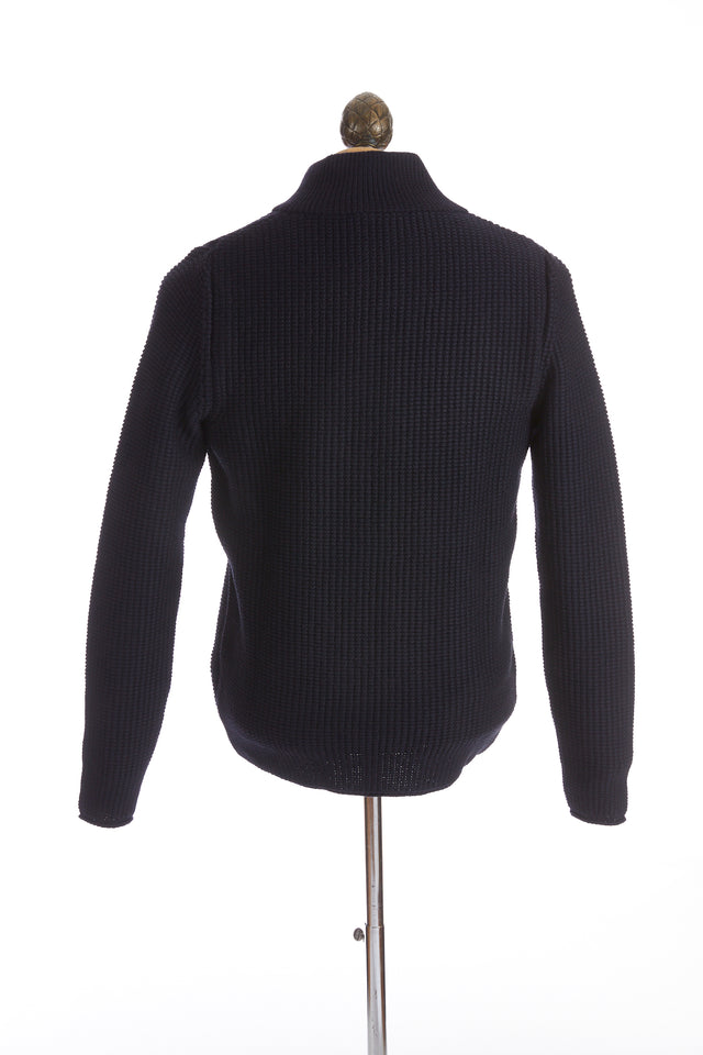 Phil Petter Black Wool Quarter Zip Sweater Pullover