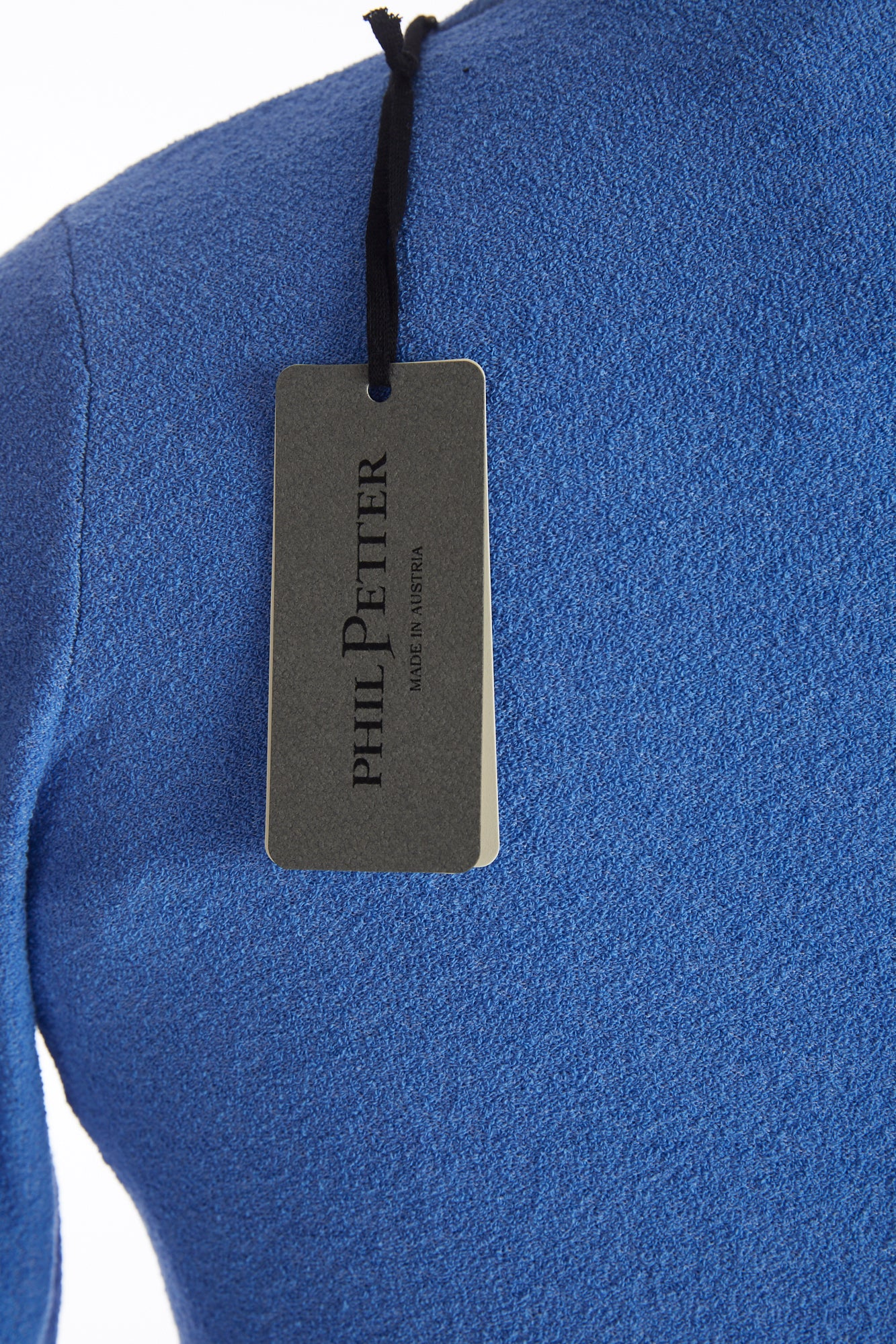 Phil Petter Blue Terry Crewneck Sweater