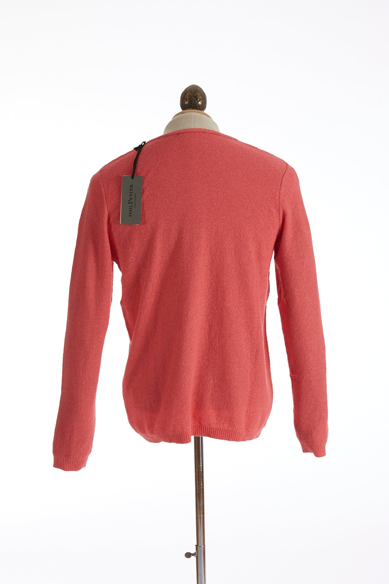 Phil Petter Coral Terry Crewneck Sweater Back
