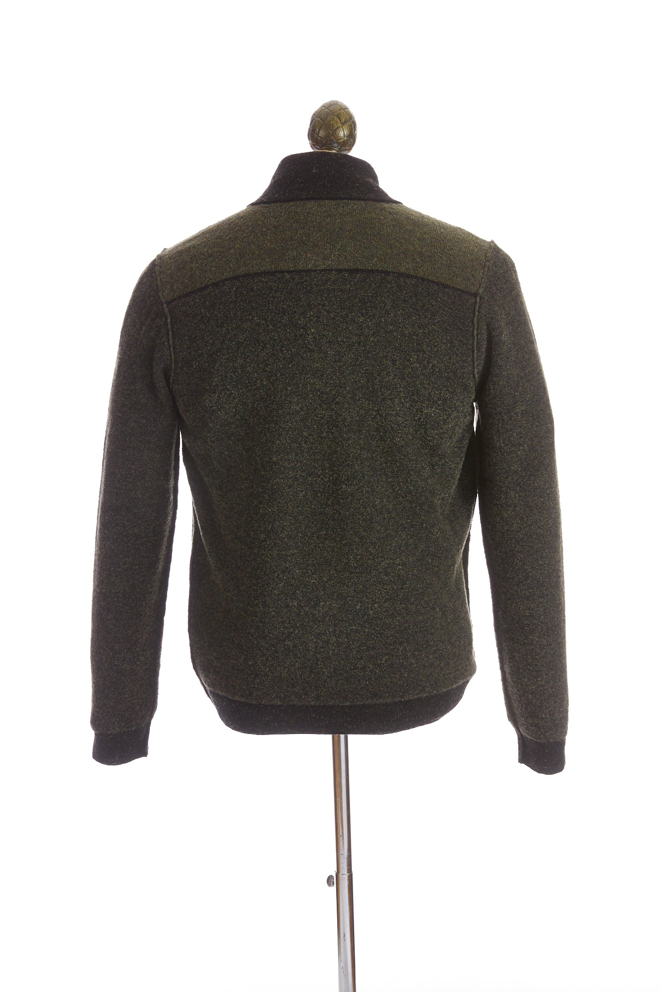Phil Petter Green Two-tone Full Zip Sweater