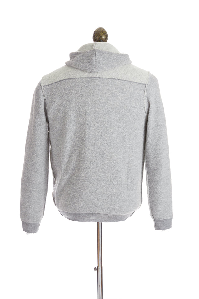 Phil Petter Light Grey Two-tone Bouclé Hoodie