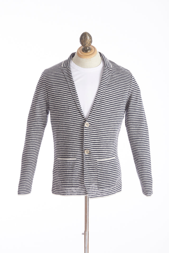 Phil Petter Linen Striped Sweater Jacket