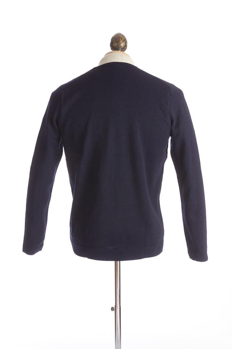 Phil Petter Navy Blue Wool Crewneck