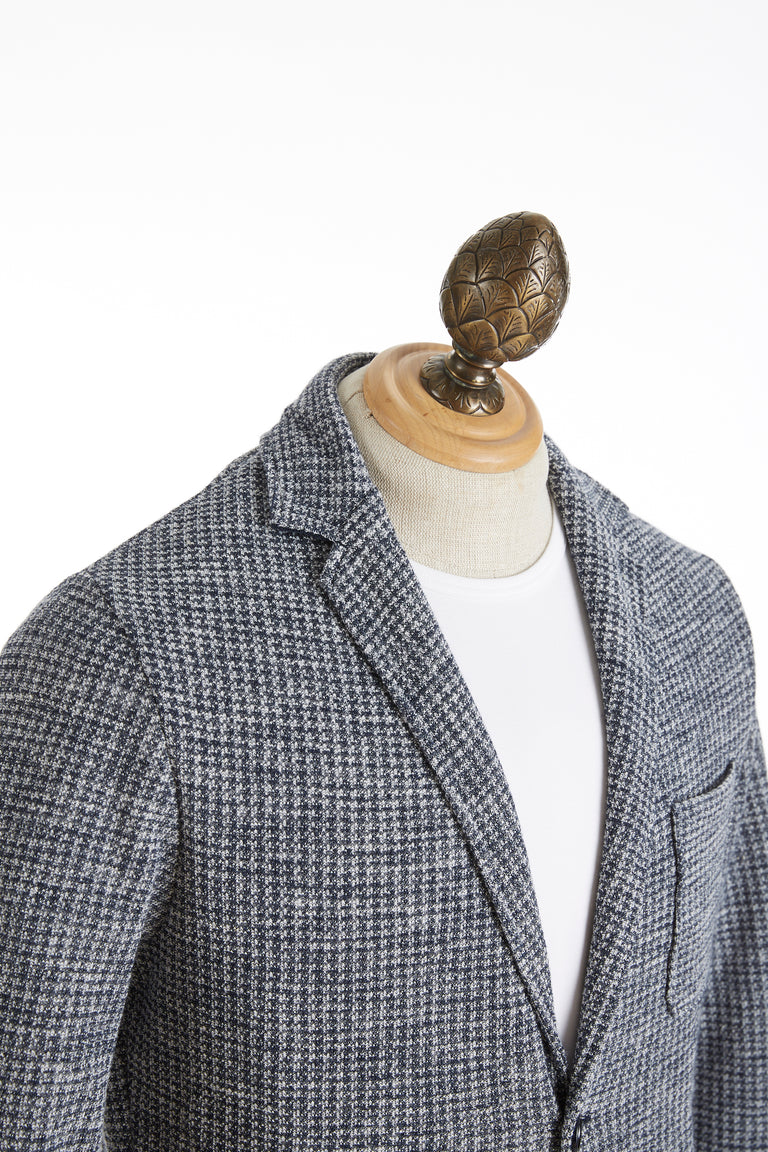 Phil Petter Navy Check Sweater Jacket