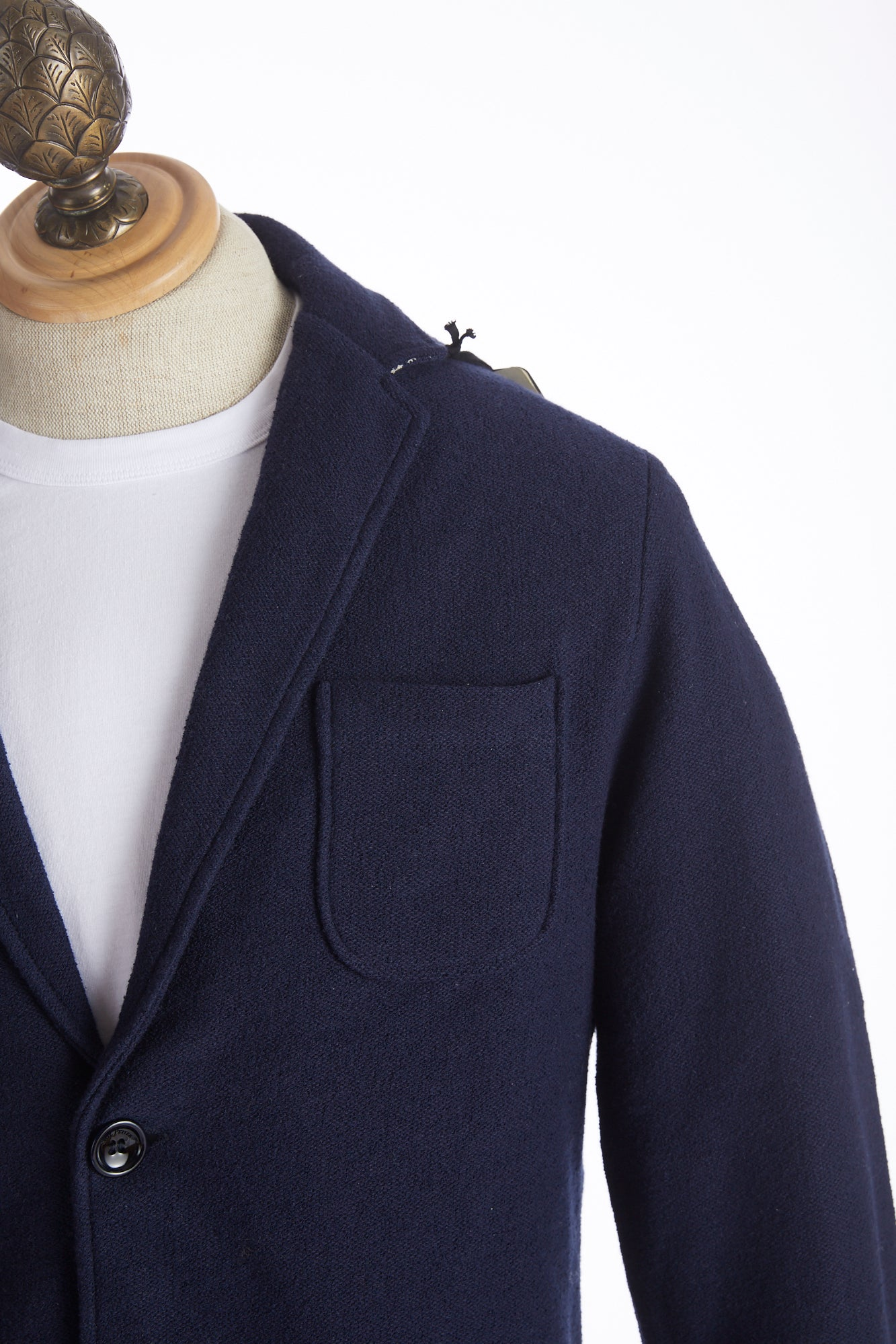 Phil Petter Navy Cotton Terry Sweater