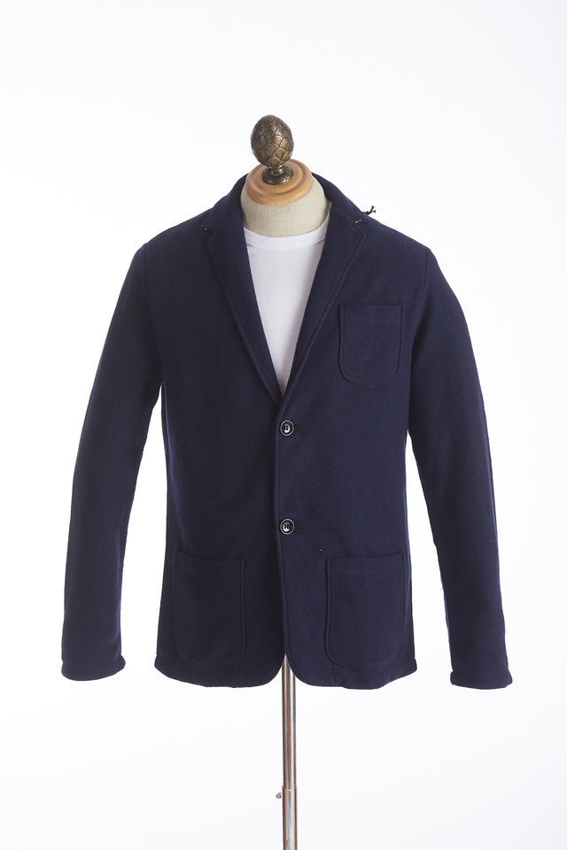 Phil Petter Navy Cotton Terry Sweater Jacket