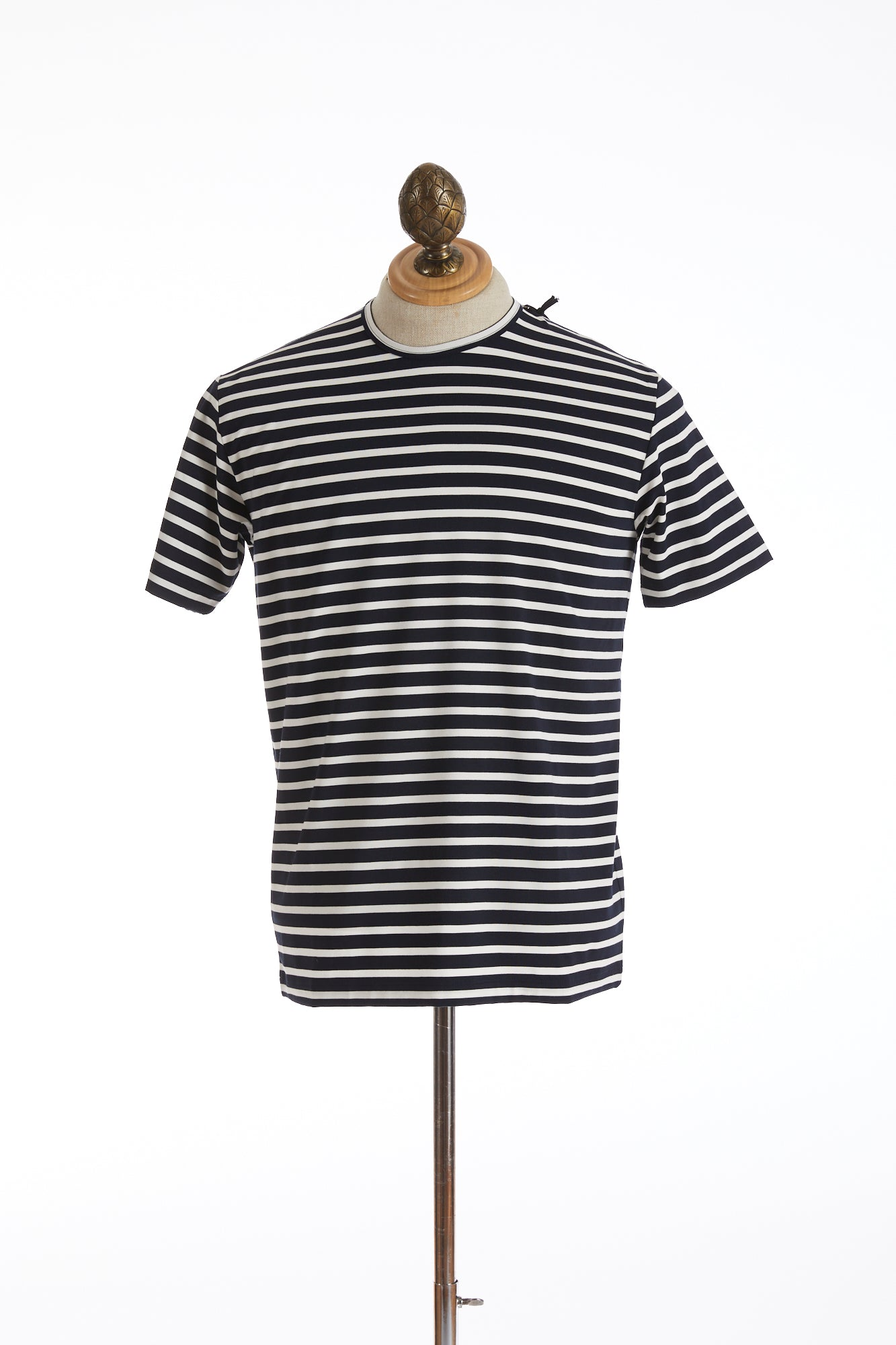 Phil Petter Navy White Striped Stretch T-Shirt