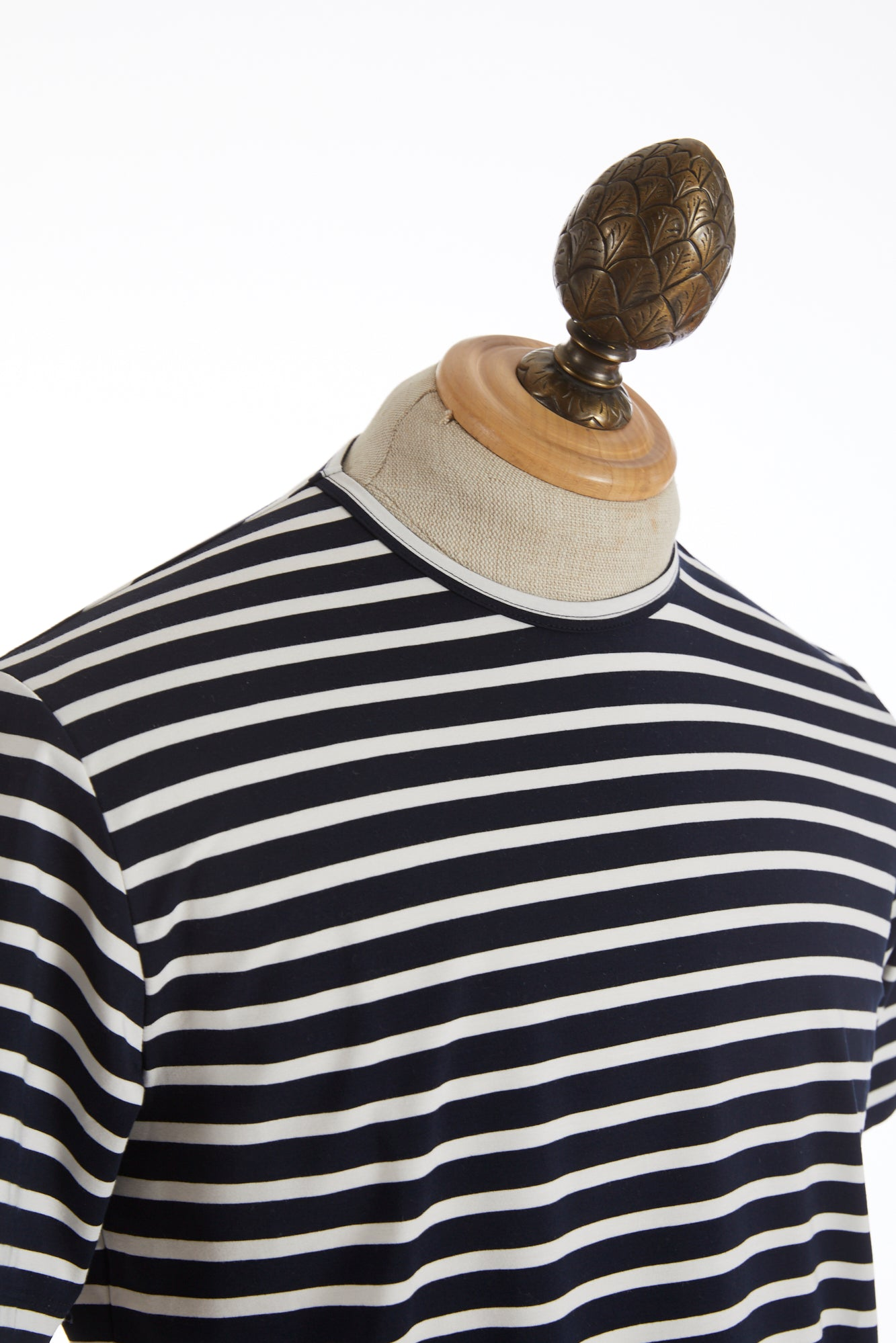 Phil Petter Navy White Striped Stretch T-Shirt Side