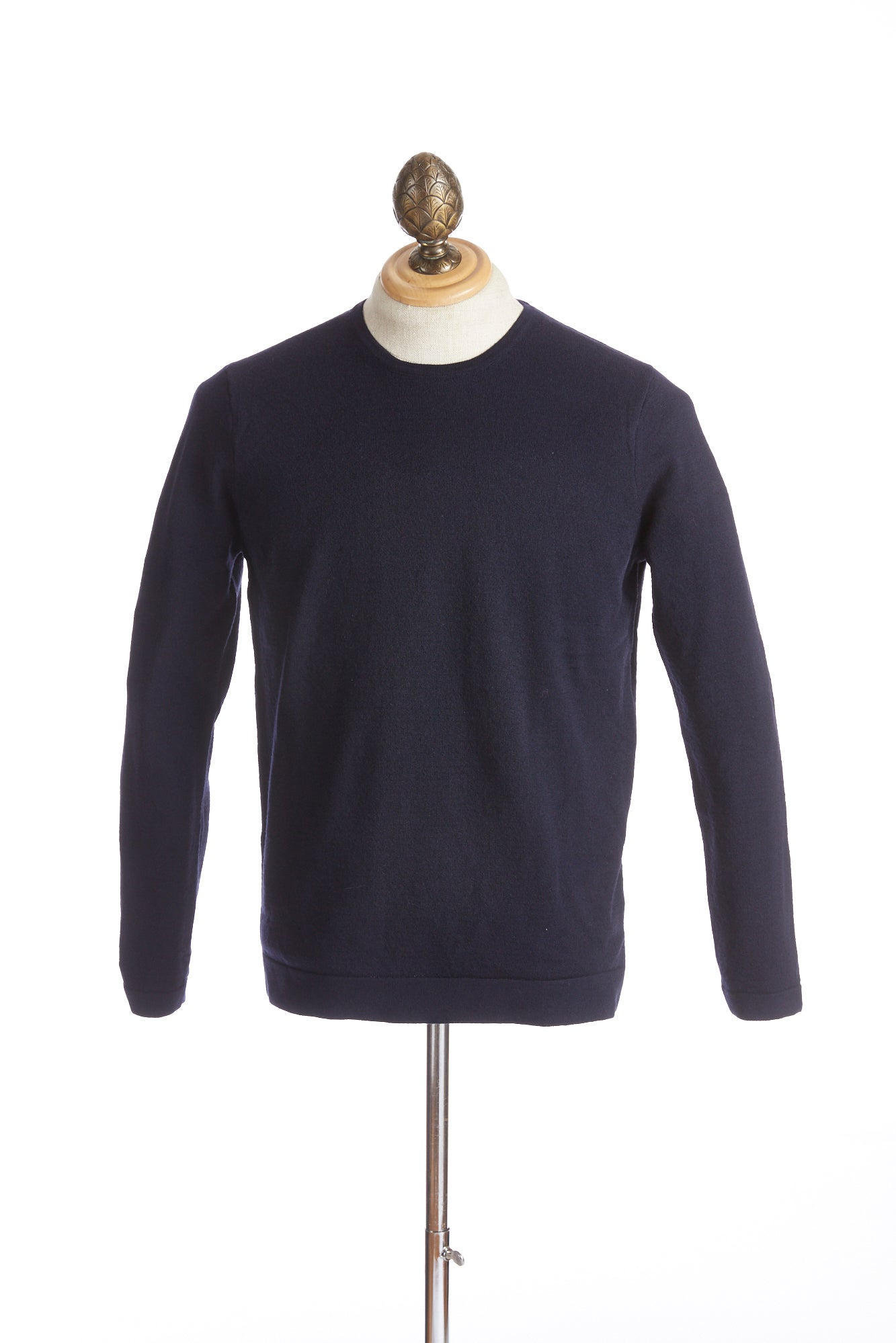 Phil Petter Navy Wool Crewneck Sweater