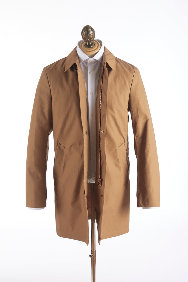 Private White V.C. Tan Cotton Ventile® Unlined Mac Coat