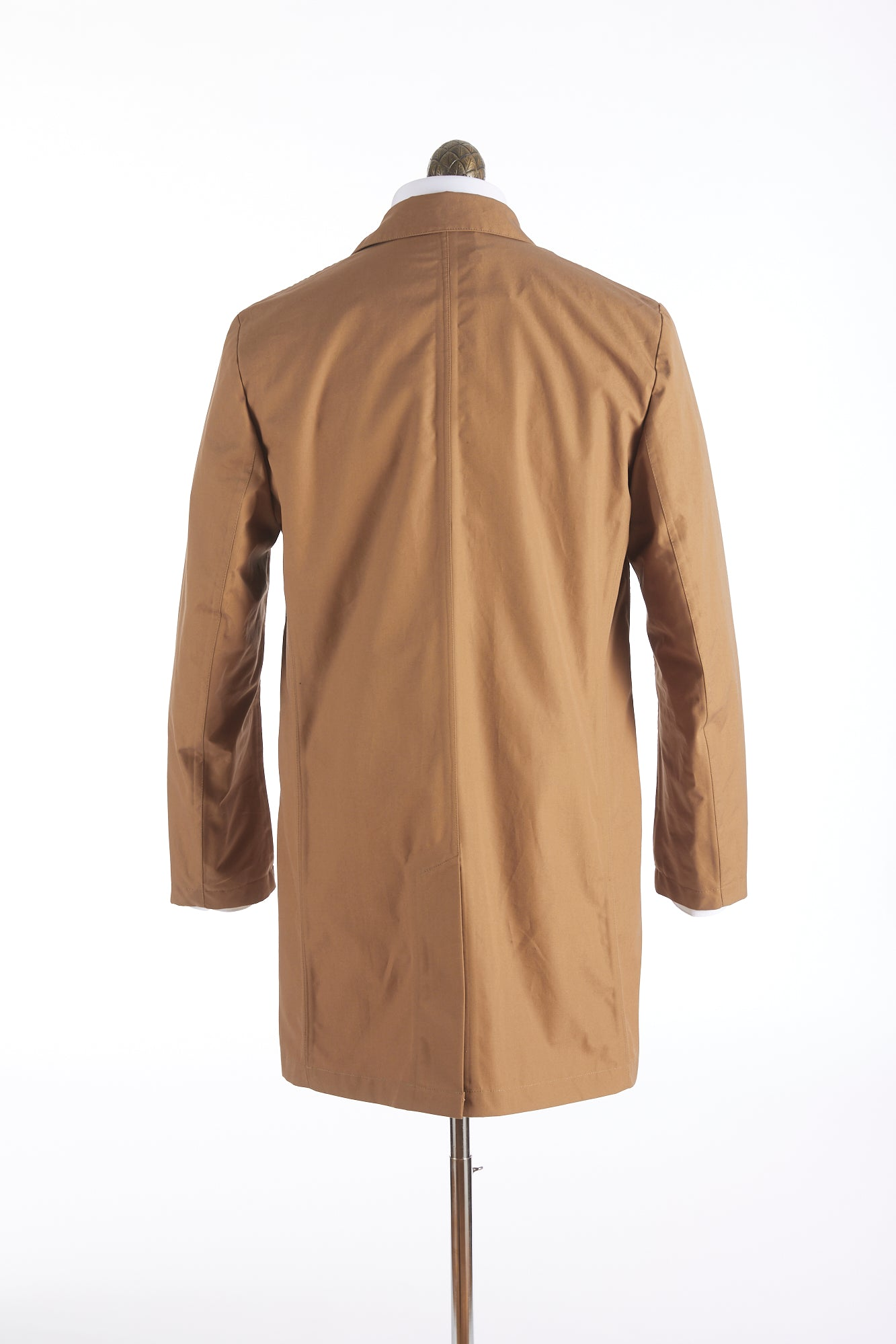 Private White V.C. Tan Cotton Ventile® Unlined Mac Coat Back