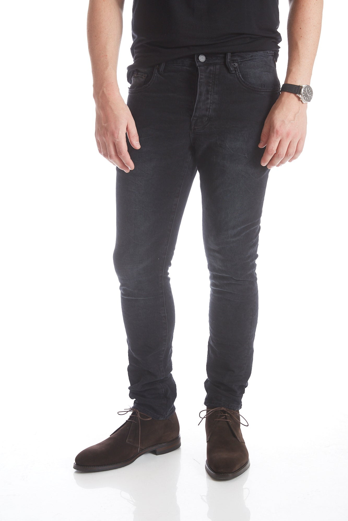 Purple Brand P001 Black Wash Jeans