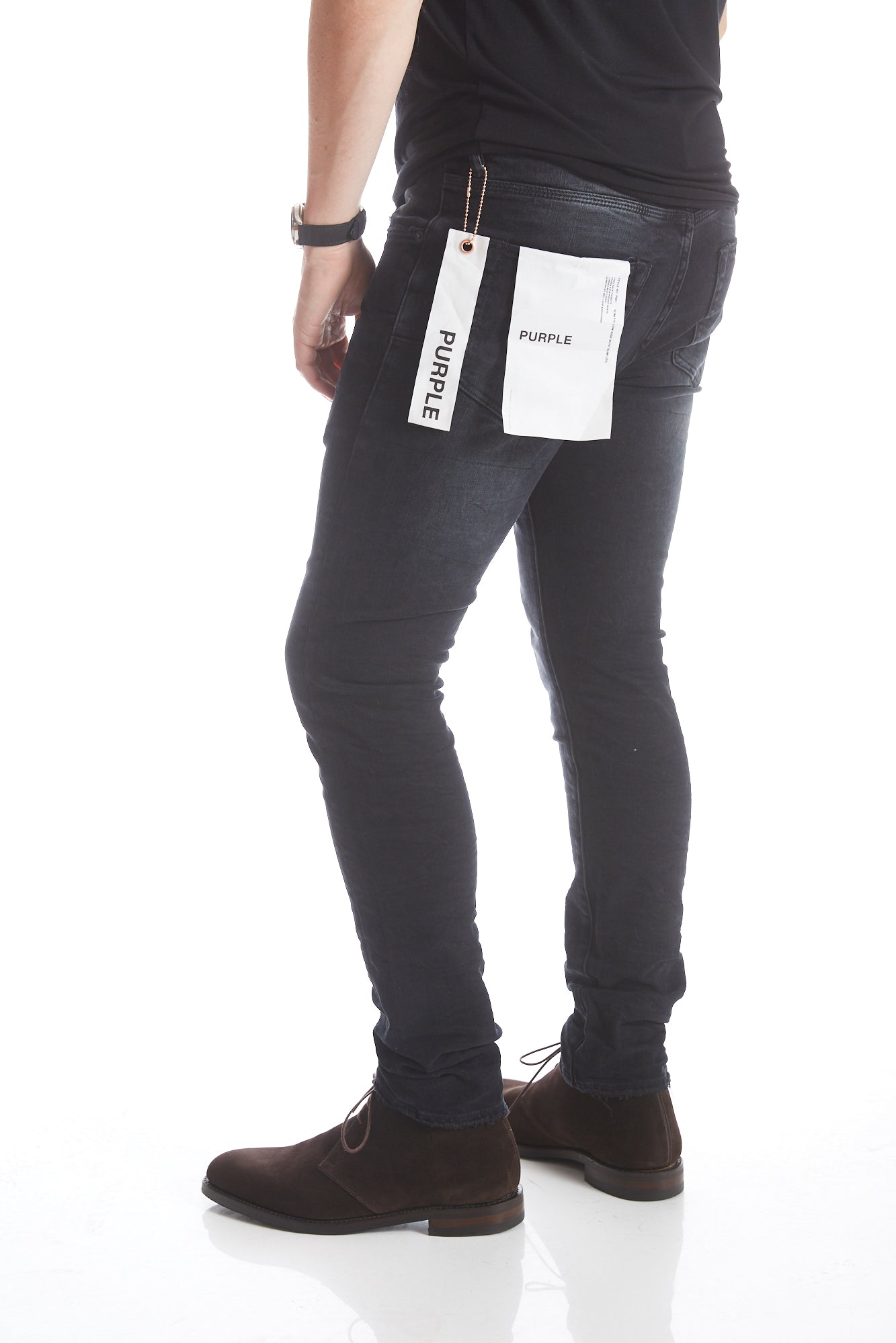 Purple Brand P001 Low Rise Black Wash Jeans