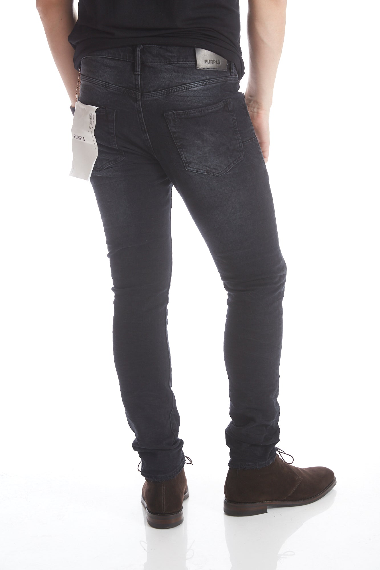 Purple Brand P001 Slim Leg Black Wash Jeans