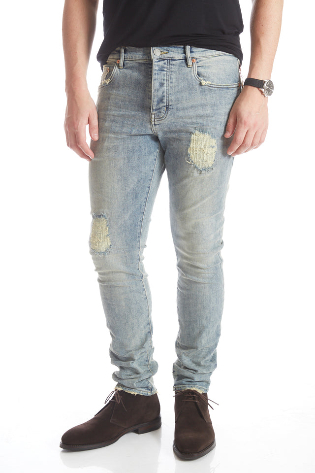 Purple Brand P002 Indigo Repair Denim Jeans