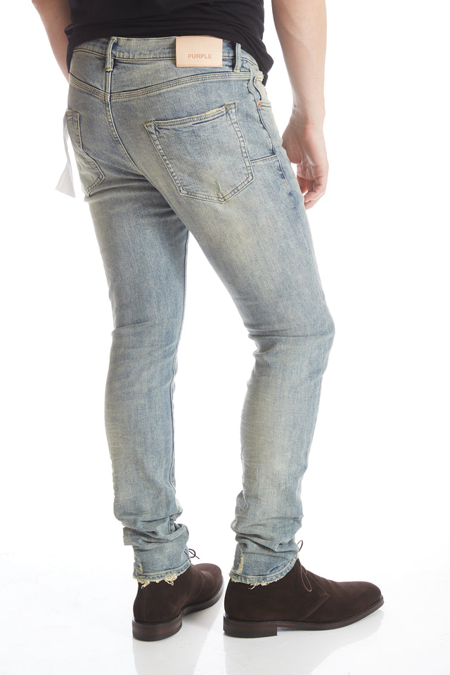 Purple Brand P002 Washed Indigo Repair Denim Jeans