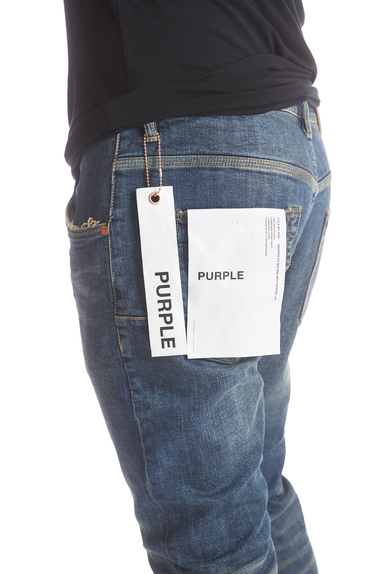 Purple P001 3 Year Wash Blue Jeans