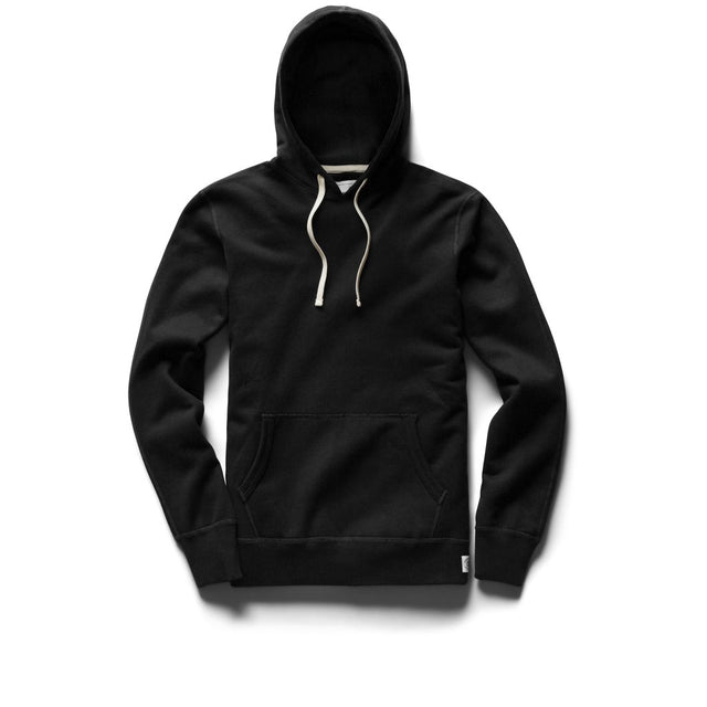Reigning Champ Mid Weight Black Terry Hoodie Pullover