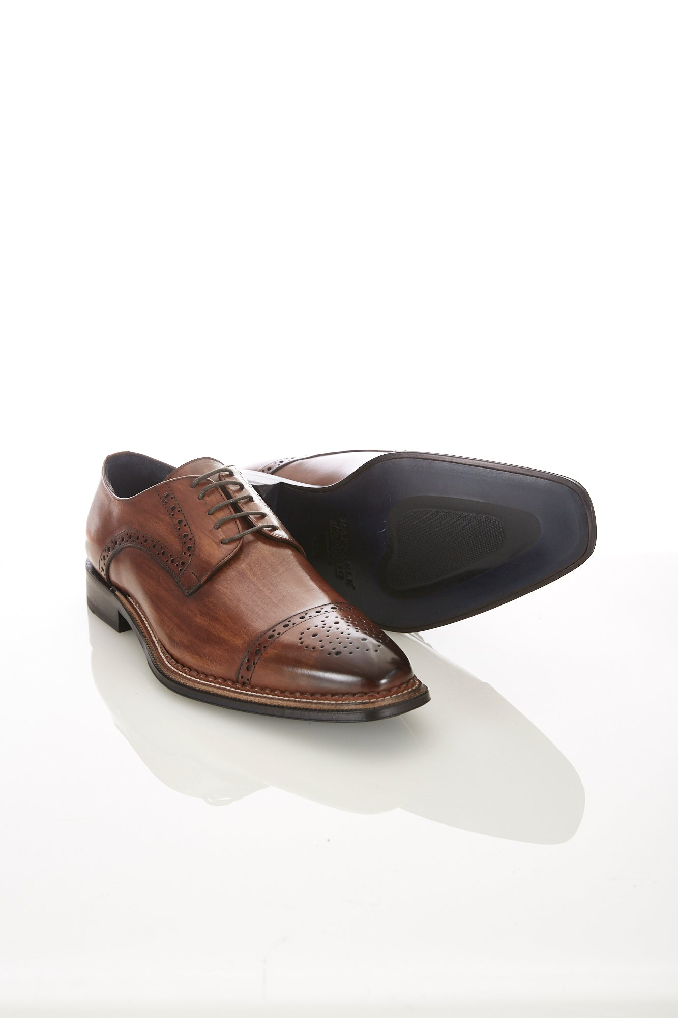 Raffaele D'Amelio Brown Cap Toe Shoe