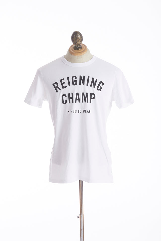 Reigning Champ Big Logo White T-Shirt