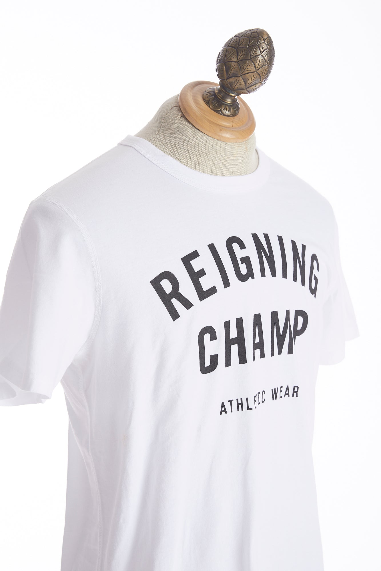 Reigning Champ Big Logo White T-Shirt Side