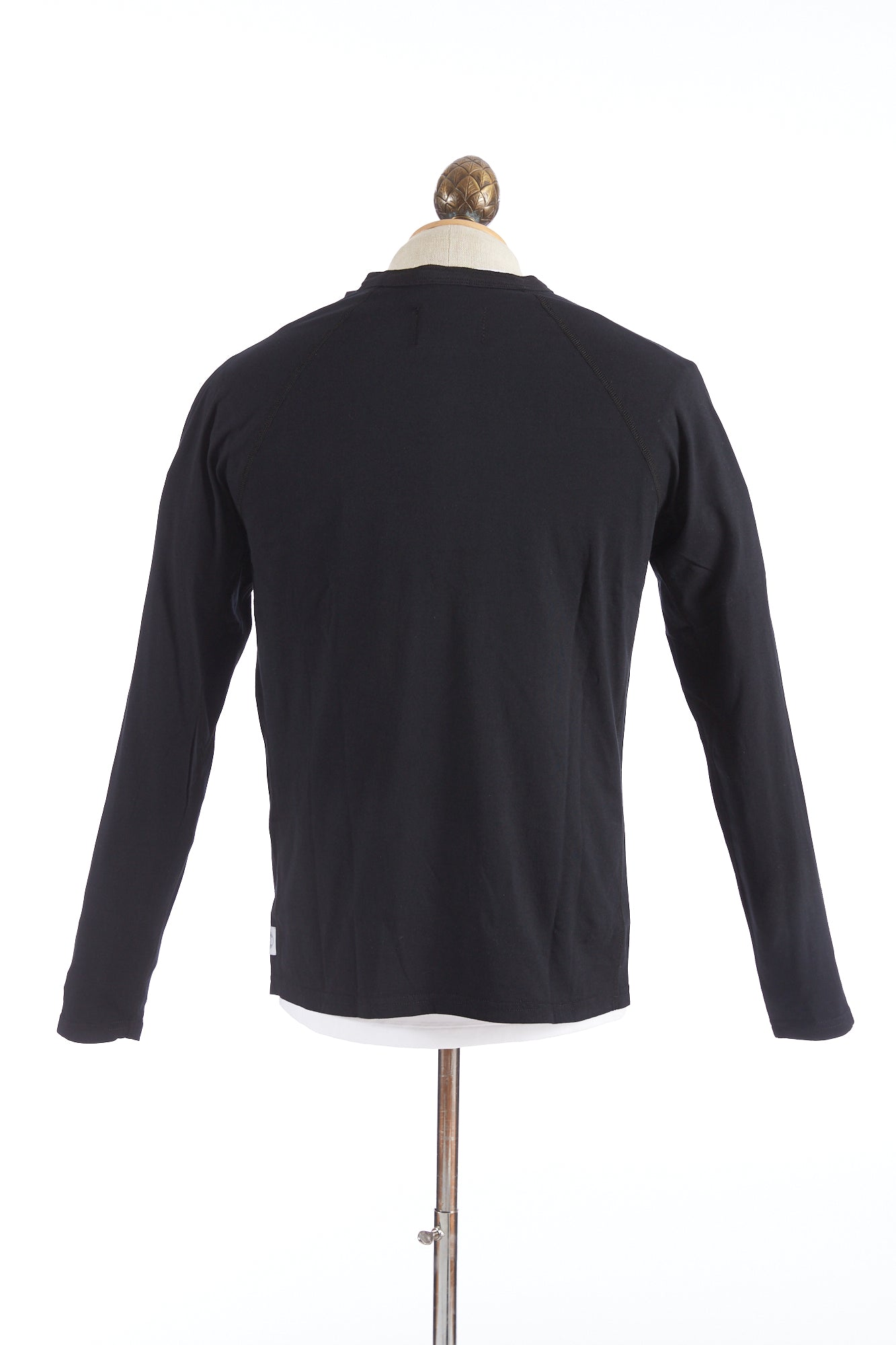 Reigning Champ Black Cotton Henley Longsleeve T-Shirt