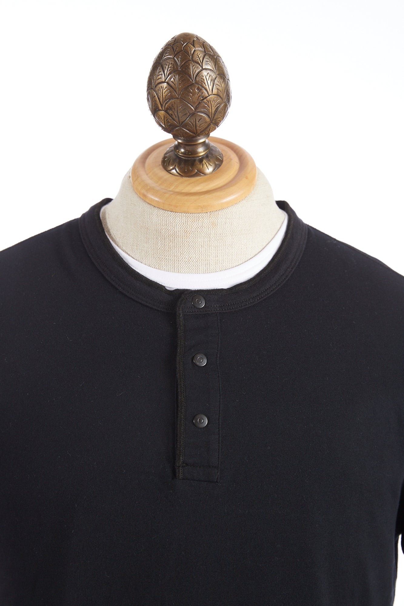 Reigning Champ Black Long Sleeve Henley