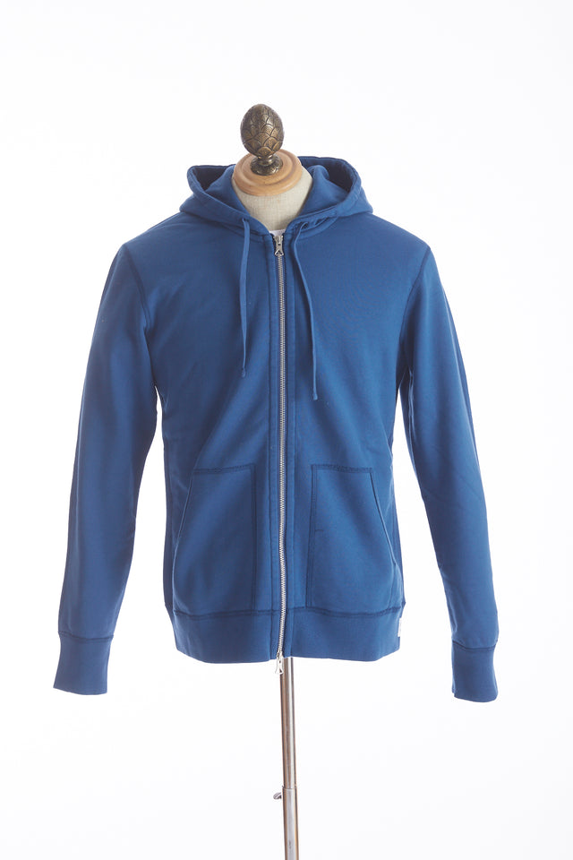 Reigning Champ Court Blue Full Zip Hoodie