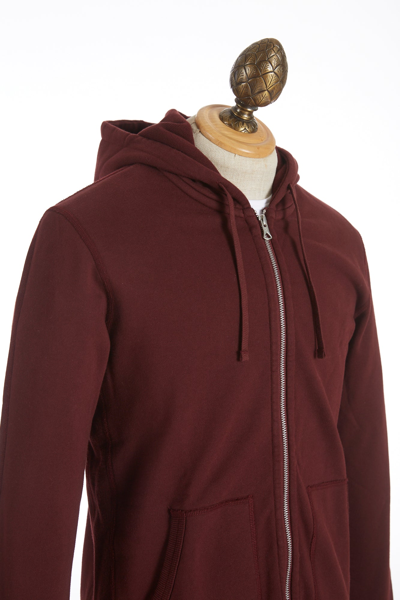 Reigning Champ Crimson Red Full-Zip Hoodie Sweater