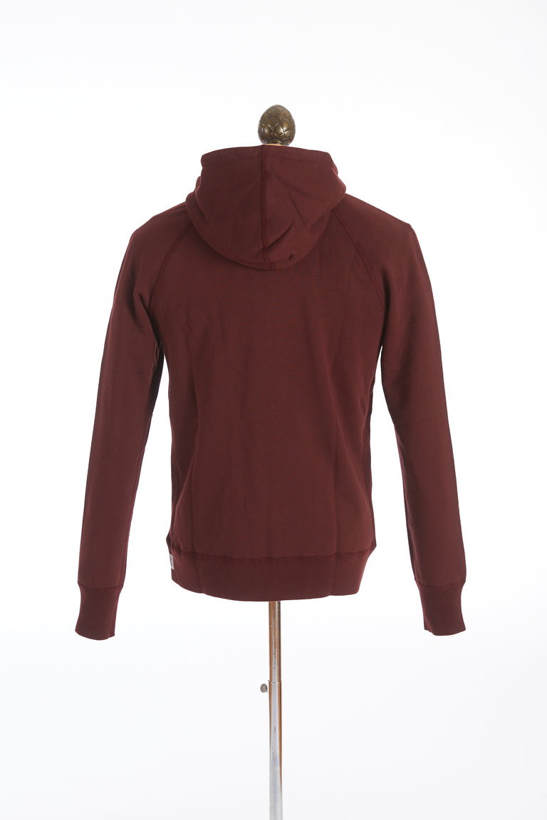 Reigning Champ Crimson Red Terry Full-Zip Hoodie Sweater